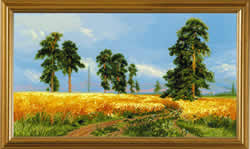 Cross Stitch Kit A Rye Field after I.Shishkin's Painting - RIOLIS