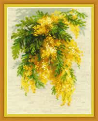 Borduurpakket Mimosa - RIOLIS