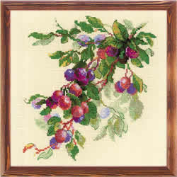 Cross stitch kit Branch of Plum - RIOLIS