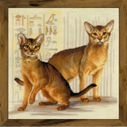 Borduurpakket Abyssinian cats - RIOLIS