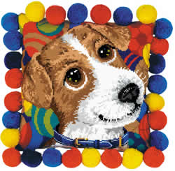 Cross stitch kit Puppy Cushion - RIOLIS