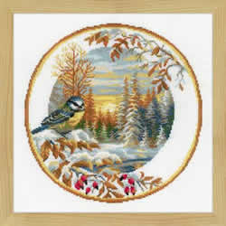 Borduurpakket Plate with Oriole - RIOLIS