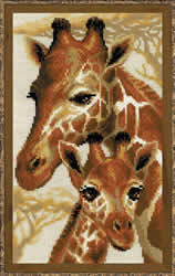 Cross stitch kit Giraffes - Borduurpakket