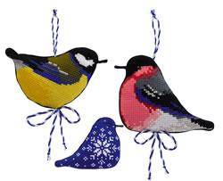 Borduurpakket Winter Birds - RIOLIS