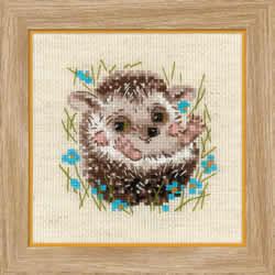 Borduurpakket Little Hedgehog - RIOLIS