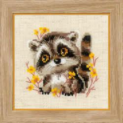 Borduurpakket Little Raccoon - RIOLIS