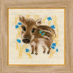 Borduurpakket Little Boar  - RIOLIS
