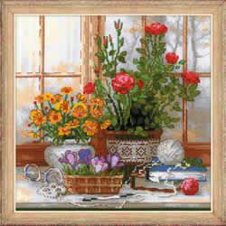 Borduurpakket Daffodils On The Windowsill - RIOLIS