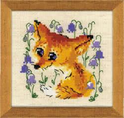 Borduurpakket Little Fox - RIOLIS