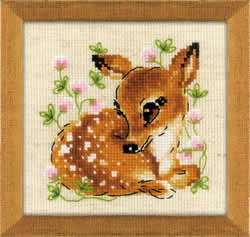 Borduurpakket Little Deer - RIOLIS