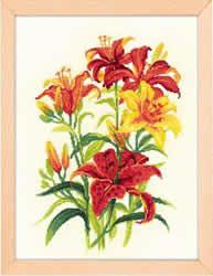 Borduurpakket Tiger Lilies - RIOLIS