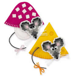 Borduurpakket Magnets Mice - RIOLIS