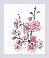 Borduurpakket The Branch of Sakura - RIOLIS