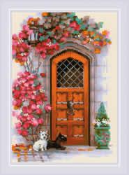 Borduurpakket Scottish Door - RIOLIS