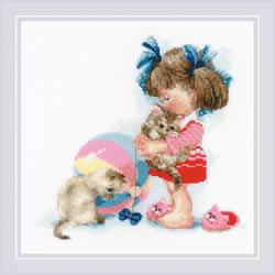Borduurpakket Kathy's Kittens - RIOLIS
