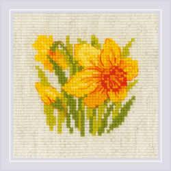 Borduurpakket Yellow Narcissus - RIOLIS