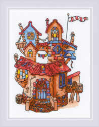 Borduurpakket Fairytale House - RIOLIS