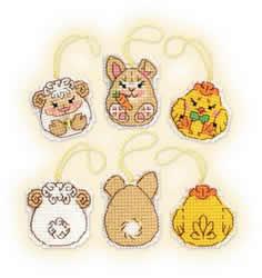 Borduurpakket Easter Bunny and Friends - RIOLIS