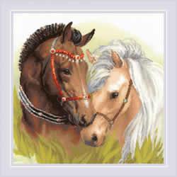 Borduurpakket Pair of Horses  - RIOLIS