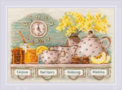 Borduurpakket Tea Time - RIOLIS