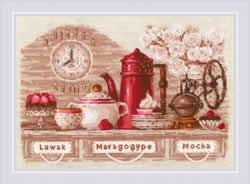 Borduurpakket Coffee Time - RIOLIS