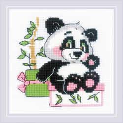 Borduurpakket Panda Gift - RIOLIS