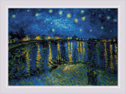 Borduurpakket Starry Night Over the Rhone after Van Gogh's Painting - RIOLIS