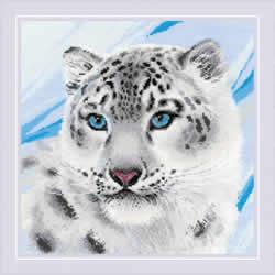 Borduurpakket Snow Leopard - RIOLIS