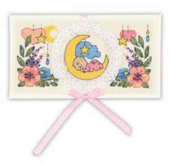 Borduurpakket Card Congratulations on the Newborn - RIOLIS