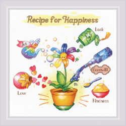 Borduurpakket Recipe for Happiness - RIOLIS