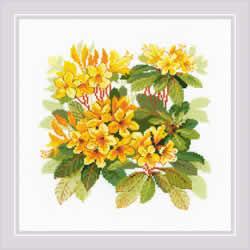 Borduurpakket Rhododendron - RIOLIS