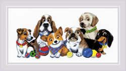 Borduurpakket Dog Show - RIOLIS