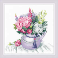 Borduurpakket Floral Charm - RIOLIS