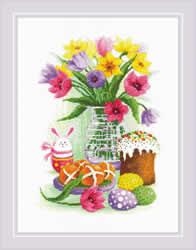 Borduurpakket Easter Still Life with Bunny - RIOLIS