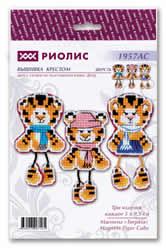 Borduurpakket Magnets Tiger Cubs - RIOLIS