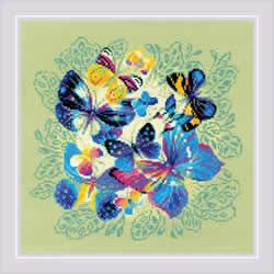 Borduurpakket Bright Butterflies - RIOLIS