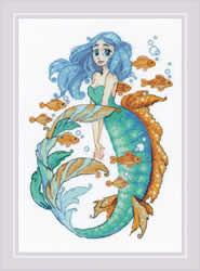 Borduurpakket Little Mermaid Aquamarine - RIOLIS