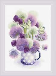 Borduurpakket Purple Allium - RIOLIS
