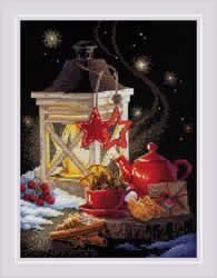 Borduurpakket Winter Tea Time - RIOLIS