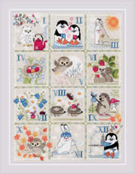 Borduurpakket Forest Calendar - RIOLIS