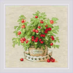 Borduurpakket Tomatoes in a Pot - RIOLIS