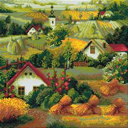 Diamond Mosaic Serbian Landscape - RIOLIS