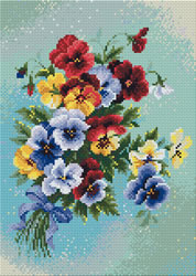 Diamond Mosaic Pansy Medley - RIOLIS