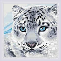 Diamond Mosaic Snow Leopard  - RIOLIS