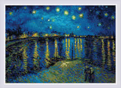 Diamond Mosaic Starry Night Over the Rhone after Van Gogh's Painting - RIOLIS