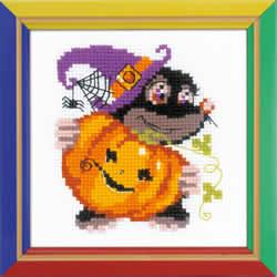 Borduurpakket Happy Halloween - RIOLIS