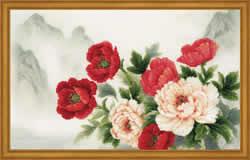 Borduurpakket Oriental Bouquet - RIOLIS