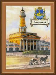 Borduurpakket Cities of Russia. Kostroma - RIOLIS