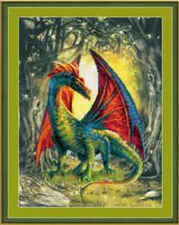 Borduurpakket Forest Dragon - RIOLIS