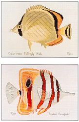 Borduurpatroon Criss-cross & Beaked Coralfish - Ross Originals